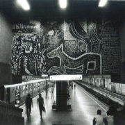 """METRO RAIL STATION IN CITY OF JOY 24"""" x 16"""" On Canson Bartya Photographique 310 GSM Archival Paper Original Signatured"""