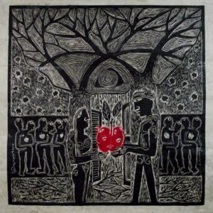 Adam and Eve 24 Inch X 24 Inch