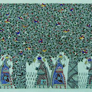 Bibhuti Nath Jha, Ink on Paper, 22 x30 inch (4)
