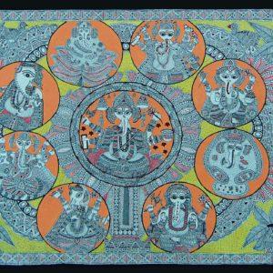 Bibhuti Nath Jha, Ink on Paper, 22 x30 inch (5)